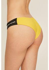 Żółty strój kąpielowy dwuczęściowy Karl Lagerfeld z aplikacjami