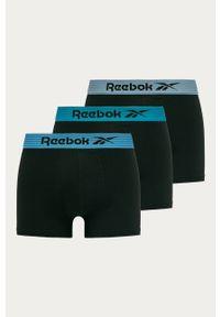 Czarne majtki Reebok z nadrukiem