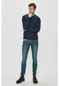 Only & Sons - Sweter. Okazja: na co dzień. Kolor: niebieski. Materiał: dzianina. Styl: casual