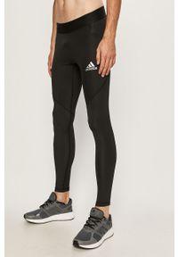 Czarne legginsy sportowe adidas Performance z nadrukiem