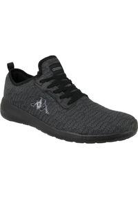 Czarne sneakersy Kappa w kolorowe wzory, z cholewką