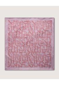 NANUSHKA - Różowy szalik Soleil. Kolor: fioletowy, różowy, wielokolorowy. Materiał: jedwab. Wzór: nadruk