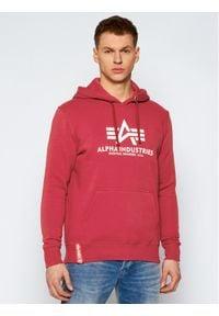 Alpha Industries Bluza Basic 178312 Czerwony Regular Fit. Kolor: czerwony