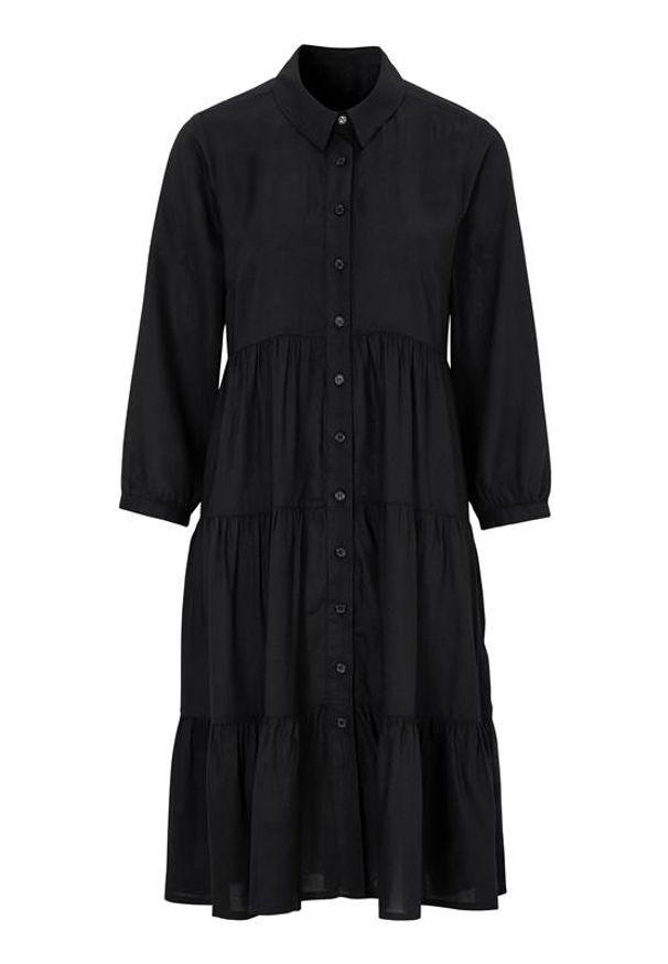 Czarna sukienka Happy Holly z aplikacjami, szmizjerki