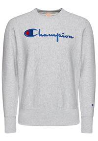 Champion Bluza Script Logo 215211 Szary Custom Fit. Kolor: szary