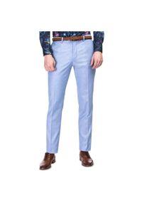 Niebieskie spodnie Giacomo Conti w kolorowe wzory