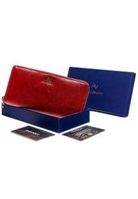 ROVICKY - Portfel damski czerwony Rovicky RV-7680188-9-8794 RE. Kolor: czerwony. Materiał: skóra