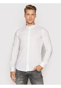 Tigha Koszula Ole Stretch 102631 Biały Slim Fit. Kolor: biały