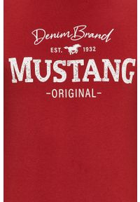 T-shirt Mustang na co dzień, z nadrukiem