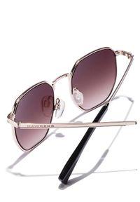 Hawkers - Okulary przeciwsłoneczne GOLD SMOKE BROWN SIXGON. Kształt: owalne. Kolor: srebrny