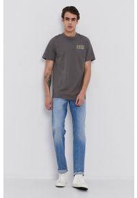 G-Star RAW - G-Star Raw - T-shirt. Okazja: na co dzień. Kolor: szary. Materiał: bawełna. Wzór: nadruk. Styl: casual