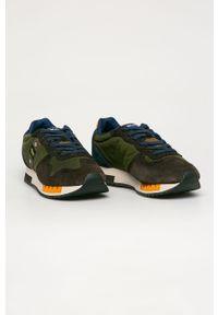 Zielone sneakersy Blauer z cholewką, z okrągłym noskiem #4