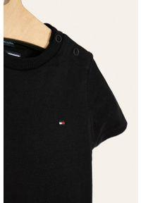 Czarny t-shirt TOMMY HILFIGER na co dzień, casualowy