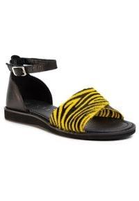 Nessi - Sandały NESSI - 20716 Żółty Zca. Okazja: na co dzień. Kolor: żółty. Materiał: skóra. Sezon: lato. Styl: casual