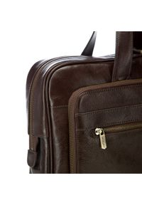 Brązowa torba na laptopa Wittchen biznesowa