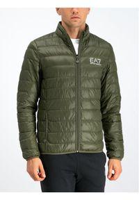 Zielona kurtka puchowa EA7 Emporio Armani