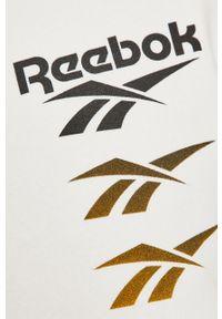 Biała bluza nierozpinana Reebok Classic bez kaptura, casualowa, z nadrukiem
