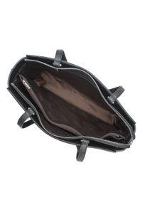Wittchen - Torebka kuferek ze skóry groszkowanej. Kolor: czarny. Materiał: skórzane. Styl: klasyczny, elegancki, biznesowy. Rodzaj torebki: na ramię #5