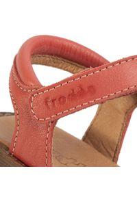 Czerwone sandały Froddo z aplikacjami