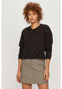 Czarny sweter MAX&Co. z długim rękawem, na co dzień, z aplikacjami