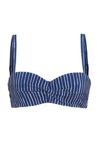 Cellbes Góra od bikini niebieski w paski female niebieski/ze wzorem 75C. Kolor: niebieski. Materiał: poliester. Wzór: paski