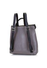 Wittchen - Damski plecak ze skóry składany. Kolor: wielokolorowy, czarny, szary. Materiał: skóra. Wzór: haft. Styl: casual
