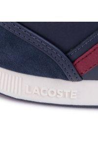 Niebieskie sneakersy Lacoste z cholewką, na co dzień