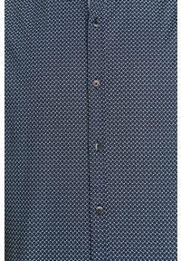 Niebieska koszula medicine krótka, na co dzień, casualowa, z klasycznym kołnierzykiem