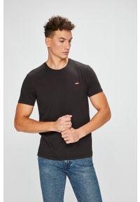 Levi's® - Levi's - T-shirt. Okazja: na co dzień, na spotkanie biznesowe. Kolor: czarny. Materiał: dzianina. Wzór: gładki. Styl: biznesowy, casual
