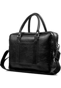 Czarna torba na laptopa Solier elegancka