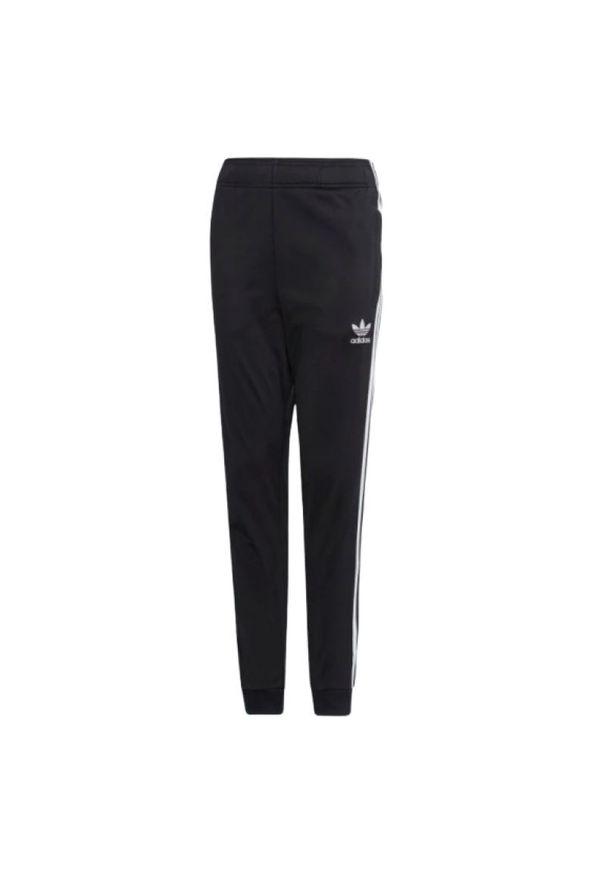 Złote spodnie dresowe Adidas w paski, sportowe