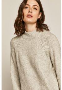 medicine - Medicine - Sweter Basic. Okazja: na co dzień. Kolor: szary. Długość rękawa: raglanowy rękaw. Styl: casual