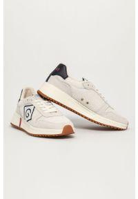Kremowe sneakersy GANT na sznurówki, z cholewką, z okrągłym noskiem