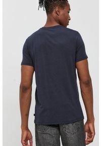Resteröds - T-shirt. Okazja: na co dzień. Kolor: niebieski. Materiał: bawełna, dzianina, włókno. Wzór: gładki. Styl: casual