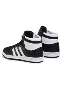 Adidas - Buty adidas - Top Ten J FW4998 Cblack/Ftwwht/Cblack. Kolor: czarny. Materiał: skóra ekologiczna, materiał, skóra. Szerokość cholewki: normalna. Styl: młodzieżowy