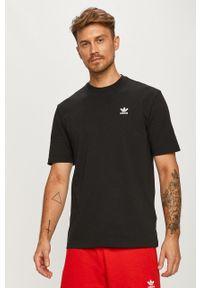 Czarny t-shirt adidas Originals casualowy, z okrągłym kołnierzem, na co dzień