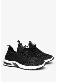 Casu - Czarne buty sportowe sznurowane casu a15-2. Kolor: wielokolorowy, czarny, szary