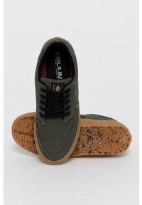 Element - Tenisówki. Nosek buta: okrągły. Zapięcie: sznurówki. Kolor: zielony. Materiał: guma, bawełna. Styl: klasyczny
