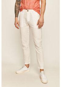 Białe spodnie Guess Jeans