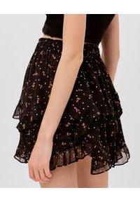 For Love & Lemons - FOR LOVE & LEMONS - Czarna spódnica mini Willow. Okazja: na co dzień. Kolor: czarny. Wzór: kwiaty. Styl: casual