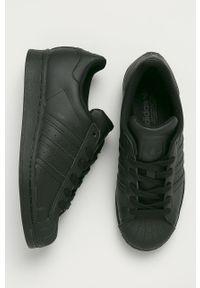 Czarne buty sportowe adidas Originals z cholewką, na sznurówki, z okrągłym noskiem