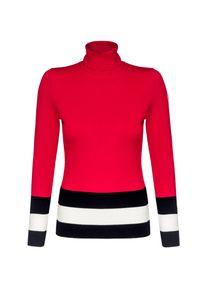 Czerwony sweter Fusalp z golfem