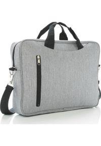Szara torba na laptopa XD COLLECTION
