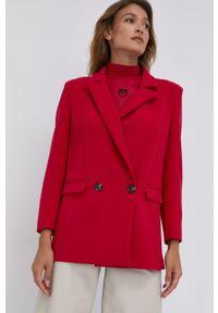 Silvian Heach - Marynarka. Okazja: na co dzień. Kolor: czerwony. Materiał: tkanina. Wzór: gładki, aplikacja. Styl: klasyczny, casual