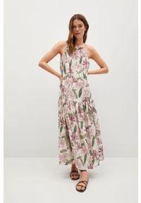 Sukienka mango w kwiaty, na ramiączkach