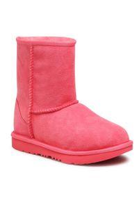 Ugg - Buty UGG - Classic II 1017703K Ssbt. Kolor: różowy. Materiał: skóra, zamsz. Szerokość cholewki: normalna