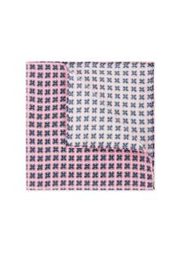 Różowa poszetka Lancerto w geometryczne wzory