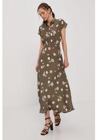 Zielona sukienka Vero Moda na co dzień, prosta, bez rękawów