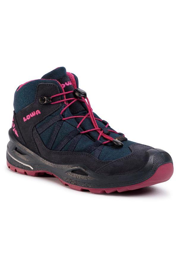 Niebieskie buty trekkingowe Lowa Gore-Tex, trekkingowe, z cholewką