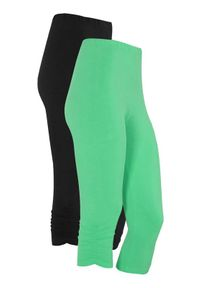 Cellbes Rybaczki z gumkami 2 Pack jasnozielony Czarny female zielony/czarny 42/44. Kolor: czarny, wielokolorowy, zielony. Materiał: guma, jersey